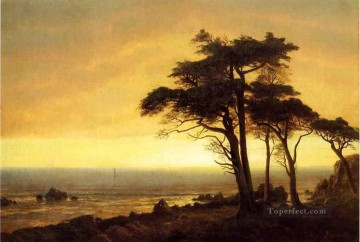 California Coast Albert Bierstadt Landscapes river Oil Paintings